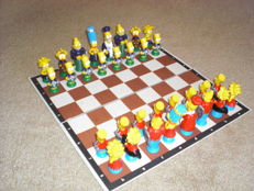 The Simpsons chess pieces