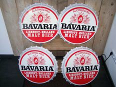 Bavaria Beer - 4 unique Hubcaps - Plastic with advertising - for Van or Truck - diameter about 52 cm