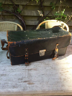 Vintage tool bag - black - 45 x 20 x 20 cm