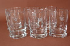 Air France CONCORDE presidential service glasses
