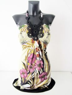 Hale Bob impressive designer Jugendstil silk summer dress