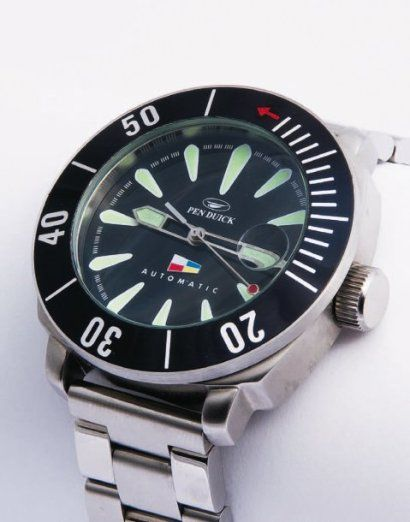 "PEN DUICK ""Éric Tabarly"" Diver's Watch Automatic Pro Divers 100 m."