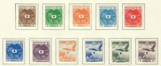 Japanese occupation of Dutch East Indies 1940/1947 - Collection on album sheets