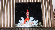 Tintin: rocket on the Moon; launch - enamel 1985