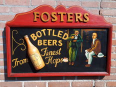 Fosters beer Pub sign