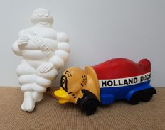 Holland Duck en Michelin Bibendum pop / figuur  mascotte