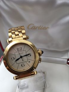 Cartier — Pasha 750 / 18 kt — W3014356 — Men's