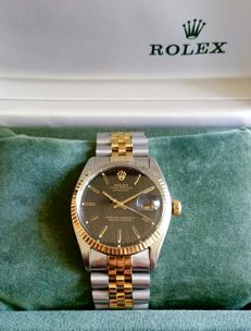 Rolex – Datejust 1603, steel/gold + box, 1-1967 – Men's