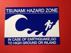 Warning sign! -TSUNAMI HAZARD ZONE - 2010 ca.