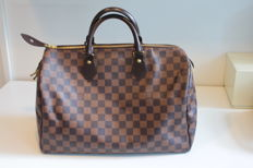 Louis Vuitton  – Damier Ebene Speedy 35 – Hand bag