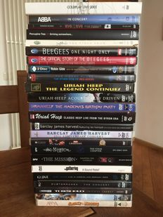 Lot with 24 DVD's of rockmusic