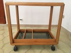 Modernism trolley - glass and ash wood