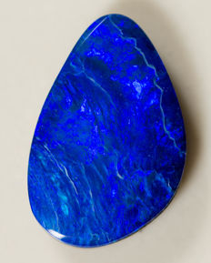 Blue Opal Doublet  - 17.42 x 11.37 x 3.70mm - 6.27ct