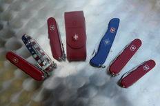 Lot of 6 Victorinox Swiss knives, in excellent condition