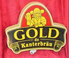 Kanterbrau illuminated advertising sign