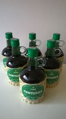 6 bottles of Distilleria Enrico Toro 'Centerba 72', Italian dry herbal liqueur (70% alc. - 500 ml bottles)