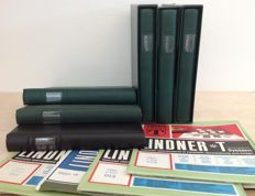 Accessories - 6 Lindner albums with 120 omnia black/white sheets in various editions.