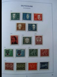 Federal Republic of Germany 1960/1999 – complete collection in 2 Davo albums.
