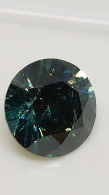 1.65 ct - Round Brilliant - Blue - SI1 - No minimum price