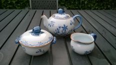 Rörstrand Ostindia Sweden Teapot with sugar pot and milk jug, mint condition