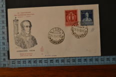 Italy, 1949/51 – 2 FDC - Venetia Club, Vault and Columbus + Centenary of Tuscan Stamps