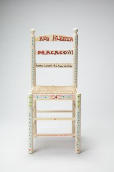 Macaco  - Customized wood and wicker chair, 2017