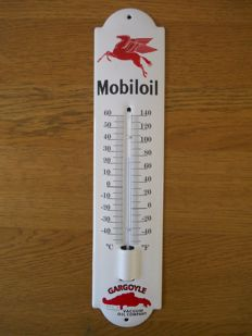 Enamel thermometer for Mobil Oil from 1990