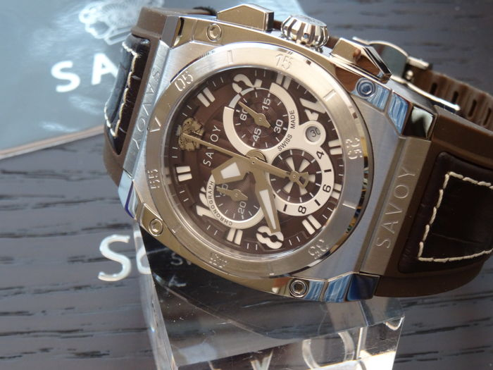 Savoy swiss made chrono — Men's wristwatch - New