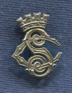 Spain. Collar badge Security Corps. Second Republic period and Spanish Civil War. 25 x 19 mm.