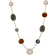 Elaine Firenze – Rose gold necklace with coloured stone – 48 cm.