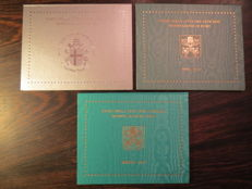 Vatican – 2003, 2010, and 2013 divisional series (3 pieces).