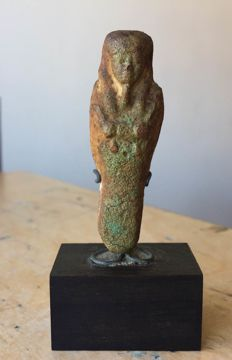 Egyptian faience ushabti - 53 mm