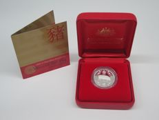 "Australia – 1 Dollar 2007 ""Year of the Pig"" – Silver"