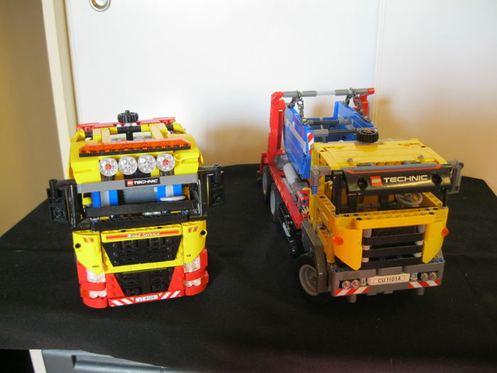 Technic 42024 + 8109   - Container Truck + Lego Technic 8109 Flatbed truck