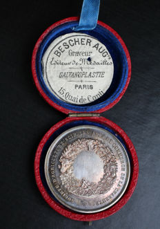France - Medal from the Society of Agriculture, Sciences, Arts and Commerce of Charente - Silver 4.1 cm