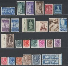 Republic of Italy, 1946, selection from the first period