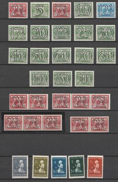 The Netherlands 1940/1945 - complete collection of war years - NVPH 356/442, including 402B / 403B.