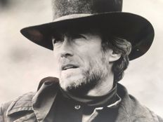 "Clint Eastwood (May 31, 1930) in ""sierra torride"" and ""pale rider"" by the Warner and Universal Studios"