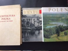 Lot with three books about Poland, architecture and art - 1952/1973