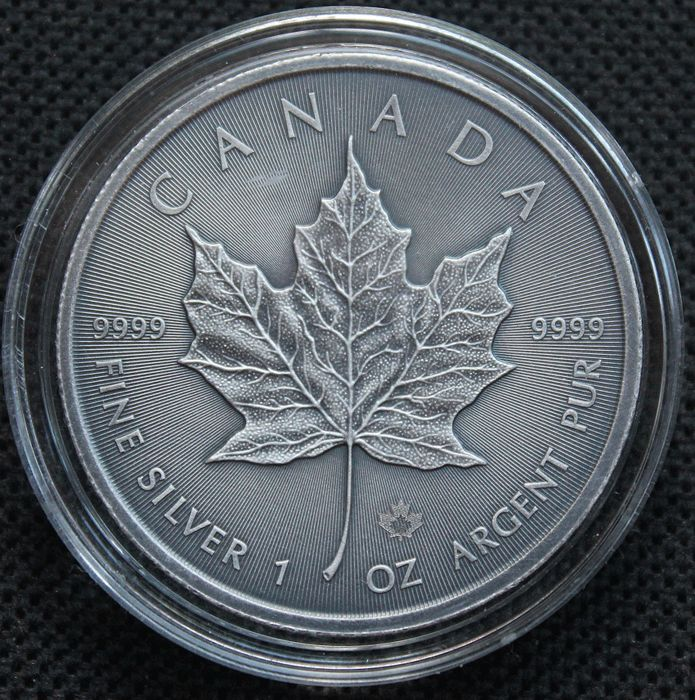 Kanada - 5 Dollars 2016 - Maple Leaf - Antik Finish - Hochrelief - 1 oz