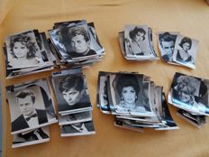 lot consisting of 260 autograph cards international stars unsigned period: 1950's - 1960's