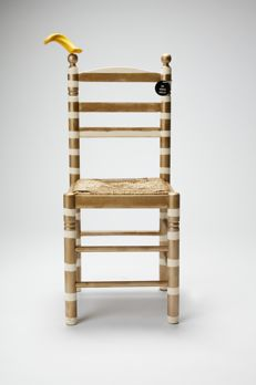 Paco León - Customized wood and wicker chair, 2017
