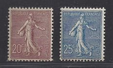 France 1903 - Type Semeuse - Yvert n° 131 + 132