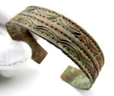 Viking Decorated Bronze Bracelet - 50 mm