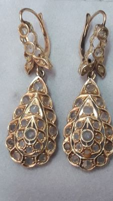 Earrings in 19.2 kt gold – Vintage, 19th century