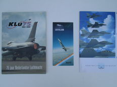 Lot with 11 Dutch Royal Air Force, NATO-OTAN - Vintage, Posters / Magazine / Brochure