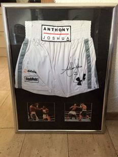 "Anthony ""AJ"" Joshua original signed boxing shorts"