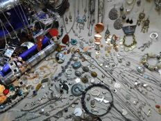 A massive  lot of decorative jewelry from an estate clearance over 190  items.