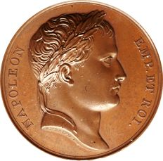 France - Medal 'Napoleon Emperor / Conquest of Illyria' 1809 by Andrieu & Denon - Bronze
