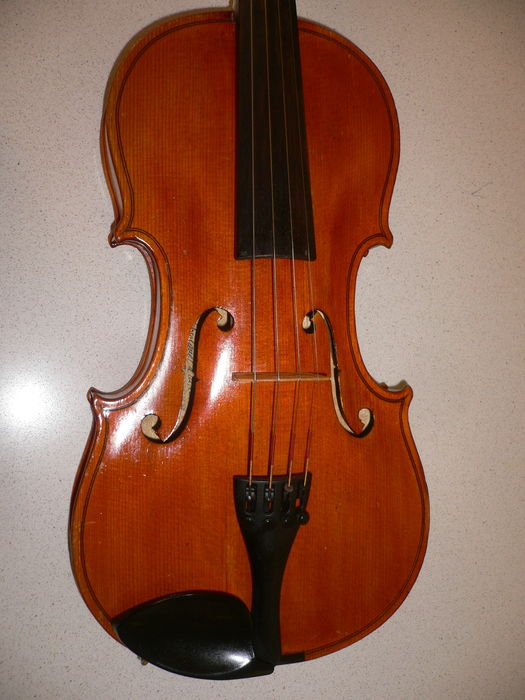 Nice Bohemian violin by Ota Kuncer, Frenstatt, 1966